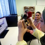 Palestinian students, who will compete in the International Technovation entrepreneurship program, work on computers at An-Najah National University in Nablus in the occupied West Bank