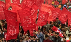 Supporters of the Popular Front for the