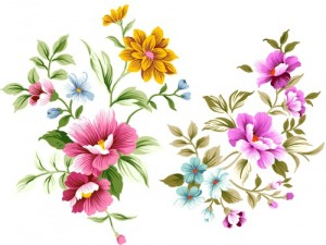 PSD-layered-file-of-hand-drawn-flowers